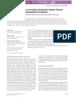 Physical Restraints in an Italian Psychiatric Ward Clinical