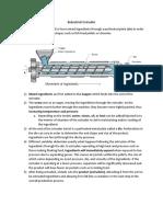 Industrial Extruder Description
