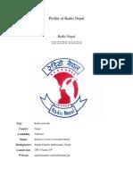Profile of Radio Nepal(Broadcasting)