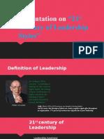 Presentation On 21st century of leadership style