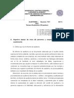 Informe y Dictamen de Auditoria