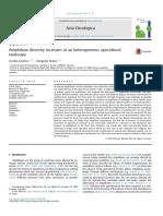 Acta Oecologica Volume 69 Issue 2015 [Doi 10.1016%2Fj.actao.2015.09.003] Guerra, Cecilia; Aráoz, Ezequiel -- Amphibian Diversity Increases in an Heterogeneous Agricultural Landscape