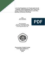 Hidrogeologi Mata Air Daerah Batugamping & Vulkanik