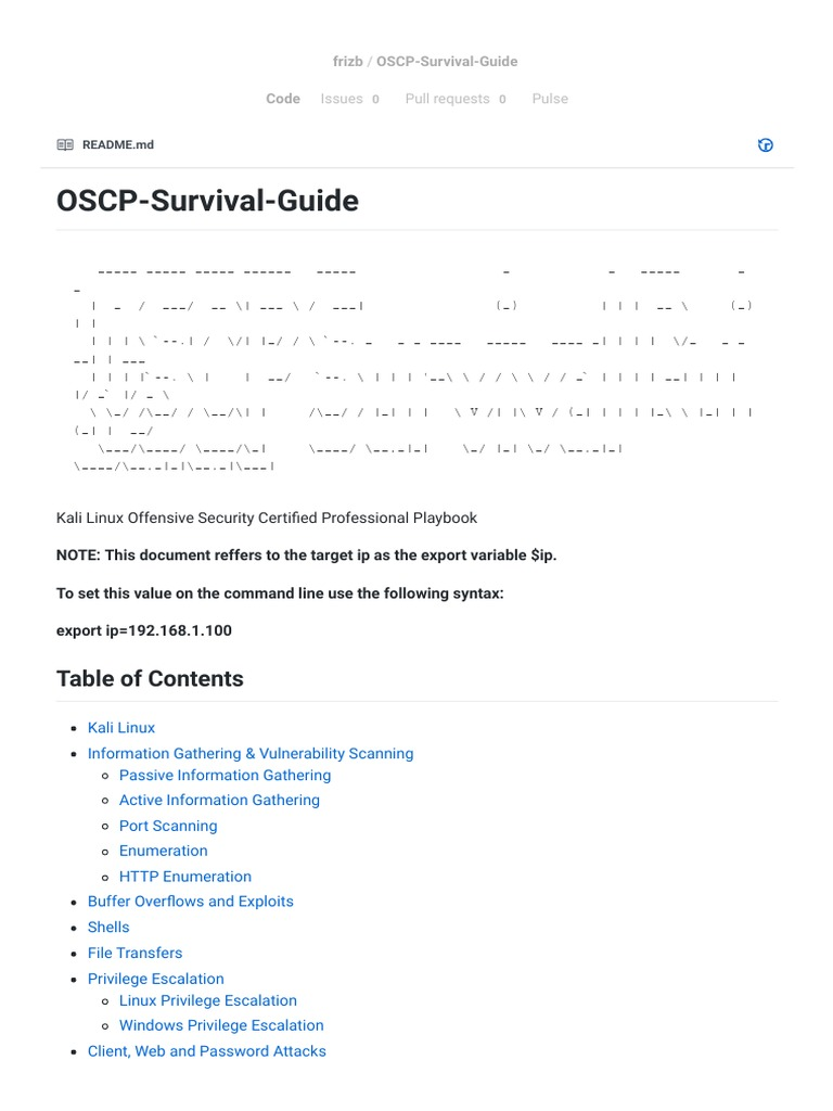 OSCP Survival Guide | Http Cookie | Domain Name System