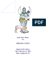 Lincoln s Vedic Chart Analysis
