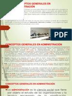 1.-Conceptos Generales en Administración