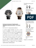 Vacheron Constantin Traditionnelle Tourbillon Ripetizione Minuti - Pre SIHH 2017 - Horbiter