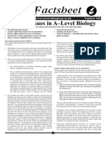 Ethical Issues in a–Level Biology