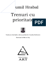 Bohumil Hrabal - Trenuri Cu Prioritate
