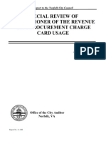 Audit Report Sharon Mcdonald Credit Card