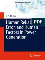 BOOK - B. S. Dhillon Auth. Human Reliability, Error, And Human Factors in Power Generation - Reliability Engineering - Springer