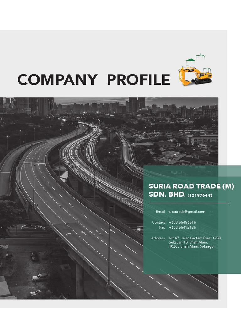 Company Profile 4 Pdf Road Surface Road