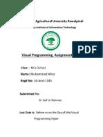 Visual Programming  Assignment  No. 1.docx