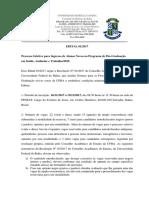 Edital Seleção PPGSAT 2018
