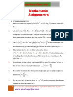 Mathematics Assignment P6