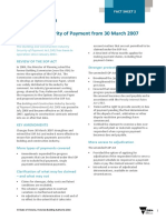 Changes to the Security of Payment Scheme