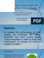 Robot to clean wind turbines