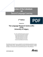A Review of the Literature on Second Language Learning
