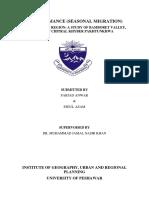 Farjad_Anwar research on transhumance (seasonal migration)