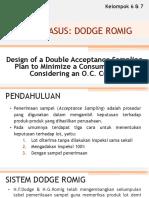 Studi Kasus Dodge Romig