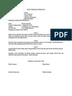 17042 Contoh Surat Perjanjian Kerjasama Bagi Hasil Usaha Pertanian