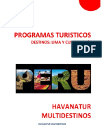 Programas Turísticos Peru II