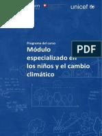 Programa Del Curso - Los Ninos y El Cambio Climatico 1