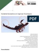 Urgencias Toxicológicas, Accidente Escorpiónico, Guías Para Médicos