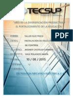 INFORME N°6  DE TALLER ELECTRICO INSTALACION CON RELÉ 1
