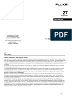 Fluke 27 Fm Manual