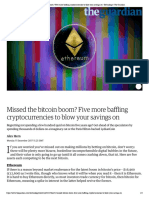 Missed the bitcoin boom? Five more baff...savings on | Technology | The Guardian