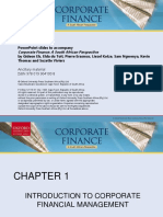 Chapter 1 - Introduction to Corporate Financial Management