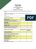 preceptor evaluation