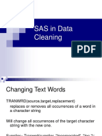 s as in Data Cleaning