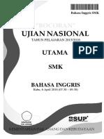 Bocoran Soal UN Bahasa Inggris SMK 2016 [Pak-Anang.blogspot.com]