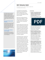 Sas Enterprise Guide Factsheet