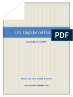 101 High Level Puzzles for IBPS Exams.pdf