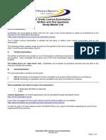 C Grade Licence Examination