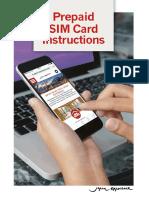 Prepaid Sim Card Instructions
