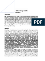 The Psychogenesis of Knowledge and Its Epistemological Significance