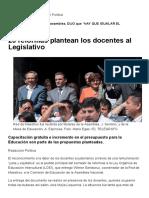 25 Reformas Plantean Los Docentes Al Legislativo