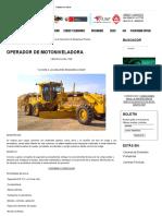 Operador de Motoniveladora - Instituto ITEP