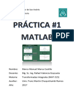 PRÁCTICA Matlab Transformadas Integrales