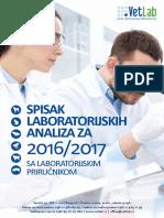 Vet Lab Spisak analiza