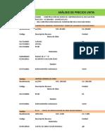 Analisis de Precios Unitarios - San Pedro