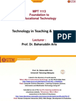 Technology in Teaching Learning