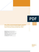 Use of the environmental impact quotient to estimate impacts of pesticide usage in three Peruvian potato production areas.
