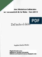 Del hecho el dicho (Vocabulario del Campo Arañuelo) por Angelines Sánchez Méndez
