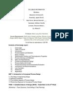 Syllabus Information