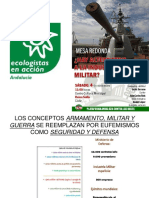 Balas por Tallarines. Alternativas a la industria militar.ppt
